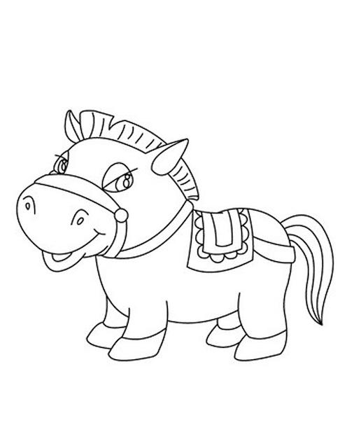 Gambar Kuda Poni Diwarnai Download Makalah Mewarnai Anak Paud Tk