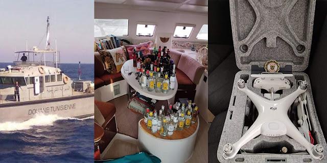 """المهدية : حجز """" درون """" وكمية من المشروبات الكحولية على متن يخت أجنبي"""