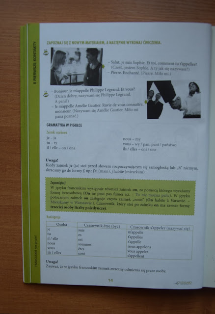 """Recenzje #10 """"Francuski nie gryzie"""" + konkurs - przykładowe dialogi - Francuski przy kawie"""