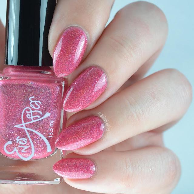 red holographic nail polish