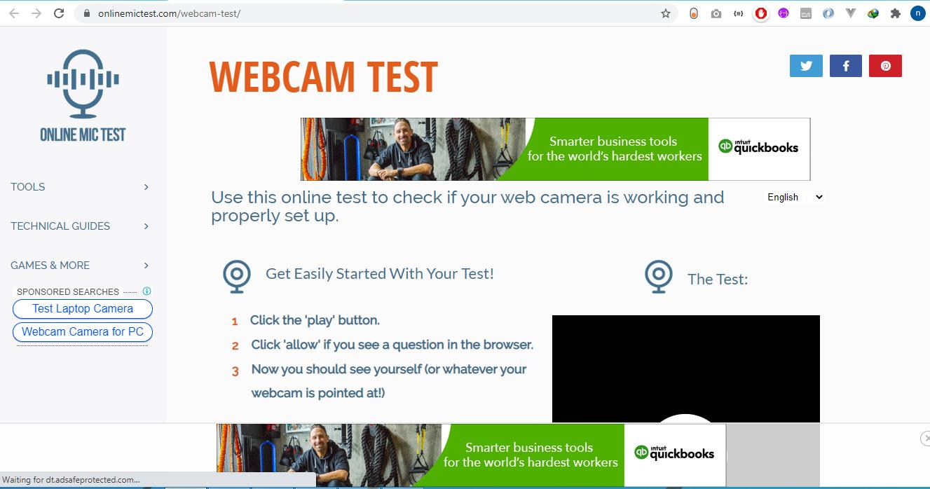 Top Website Webcam Test Online Online Camera