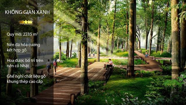 Không gian xanh tại chung cư Eco City Long Biên