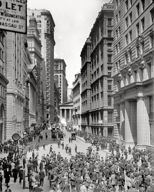 Broad Street And Curb Market New York 1906 Vintage