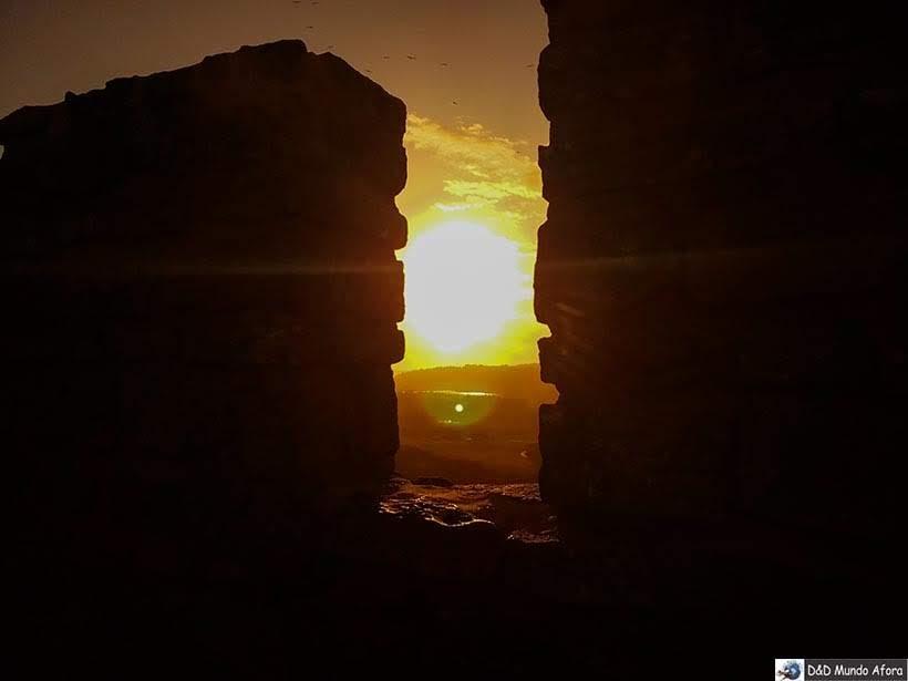 Pôr do Sol em cima das muralhas de Óbidos, Portugal