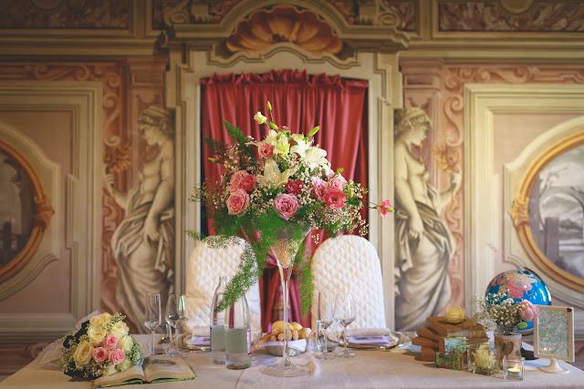 Tavolo degli sposi fiori