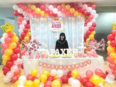 trang trí không gian sinh nhật cho người lớn