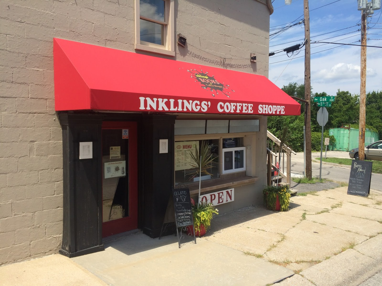 the indie bob spot inklings 39 books coffee shoppe blue On jewelry stores blue springs mo