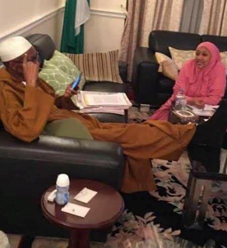 Photo of President Buhari and his daughter in London