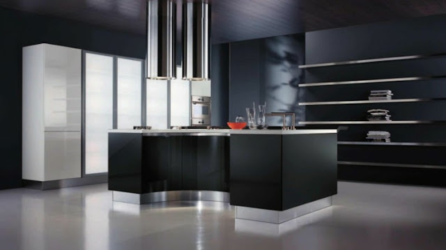 The kitchens colors with variations of different shades