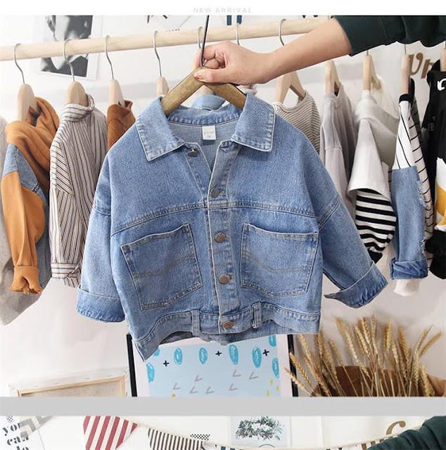 Áo khoác jeans cho bé trai và bé gái