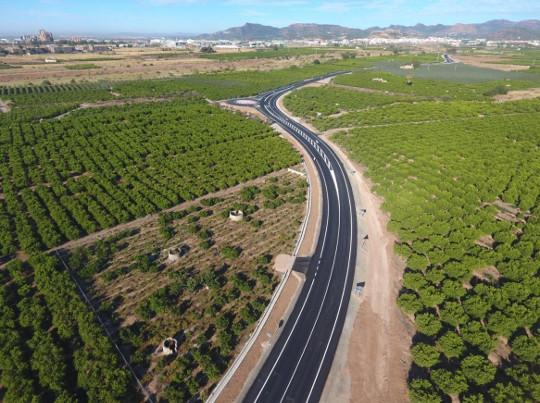 La Diputació de València renueva la carretera entre Sagunt y Canet d'En Berenguer y acaba con su peligrosidad