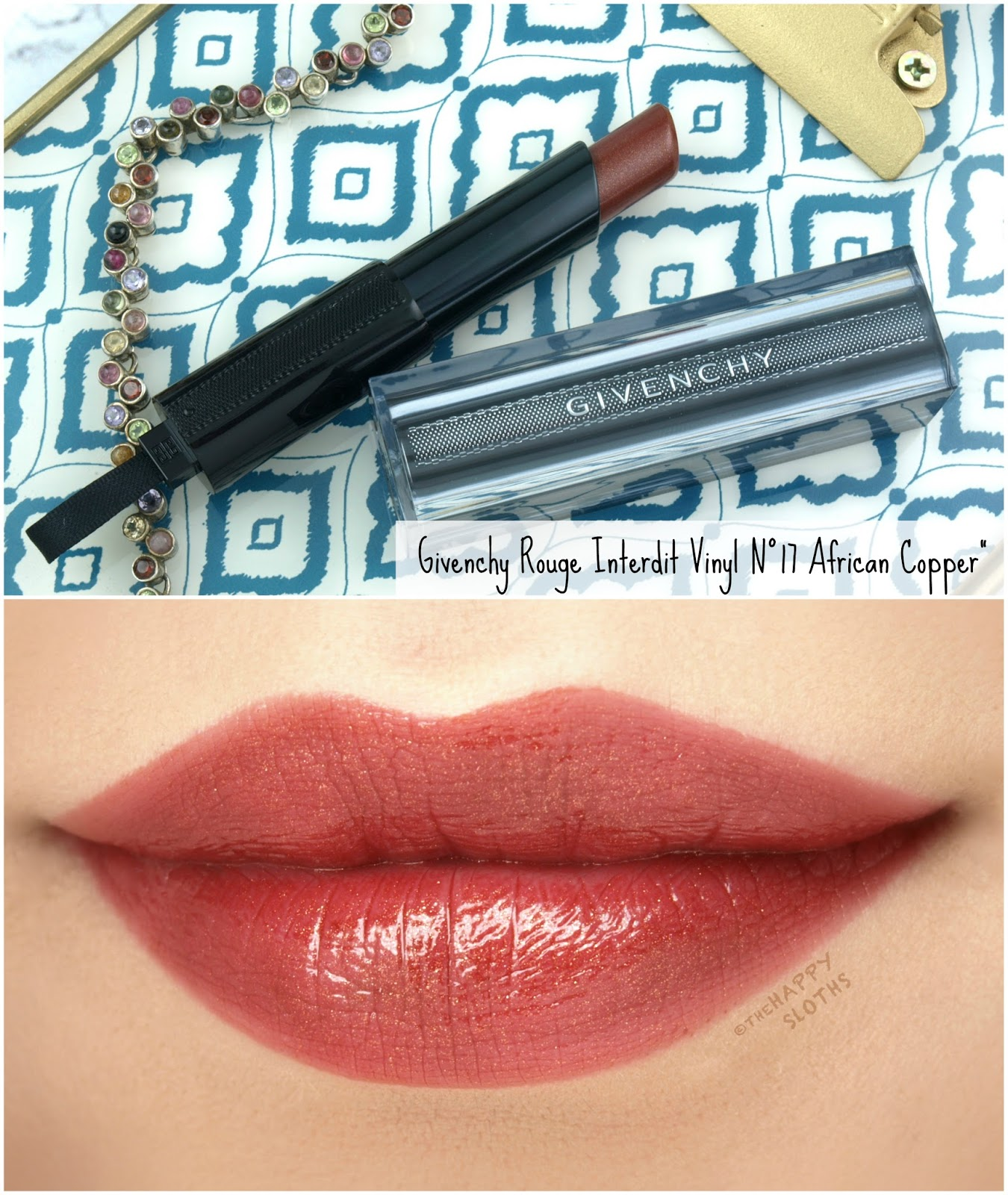 "Givenchy | Rouge Interdit Vinyl Lipstick in ""17 African Copper"": Review and Swatches"