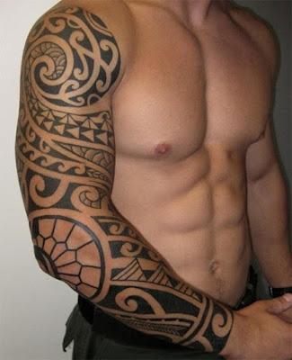 polynesian tattoo sleeve