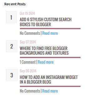 Blogger Son Paylaşımlar Tasarımı 1