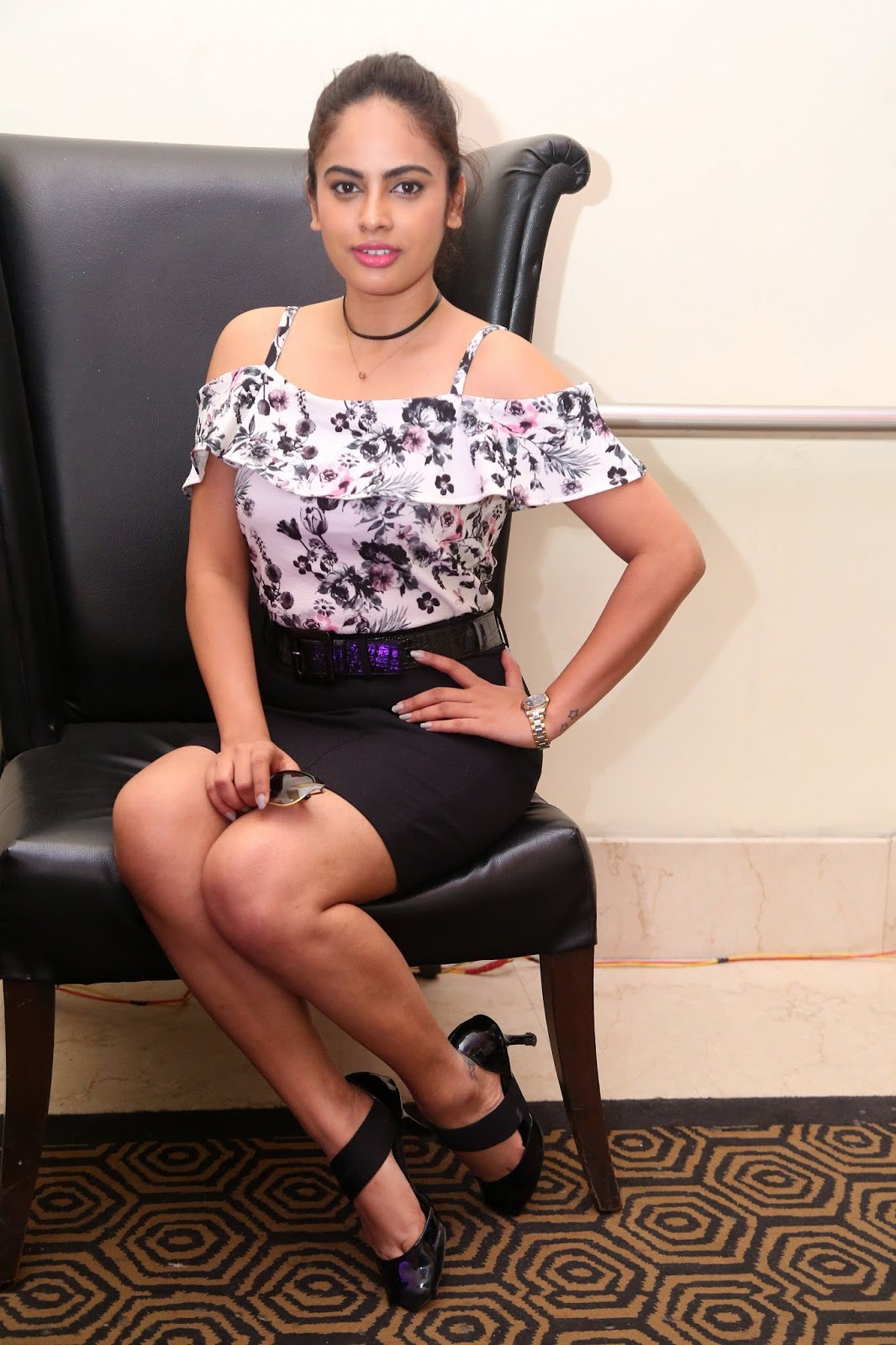 Nandita Swetha Hot Thighs and Legs In Mini Skirt Latest Photoshoot Stills