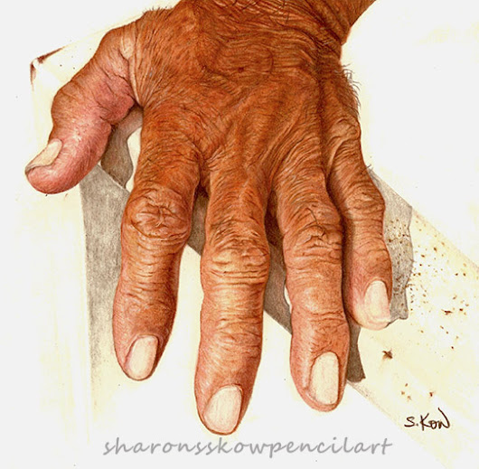 Weathered - Portrait of an aged Asian male's hand.
