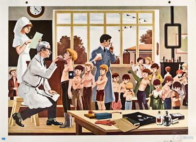Tableau mural Ecrire et Parler pour le CE1, 1967,  (collection musée)
