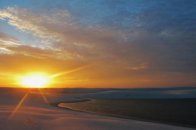 Pôr do Sol nos Lençóis Maranhenses