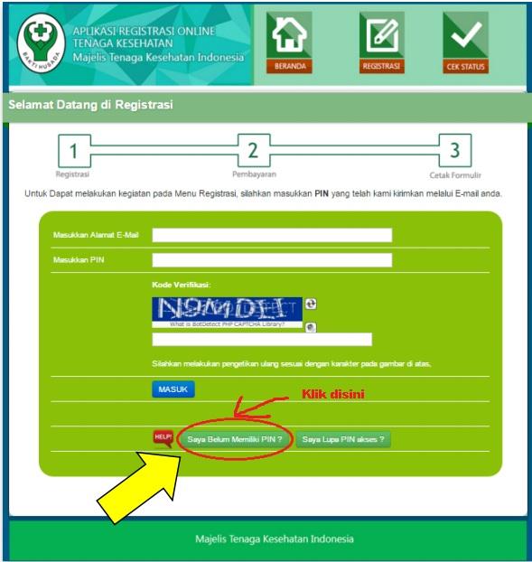 pendaftaran surat Asterik registrasi