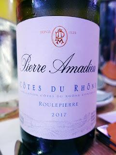 Pierre Amadieu Côtes du Rhône Roulepierre 2017 (89 pts)