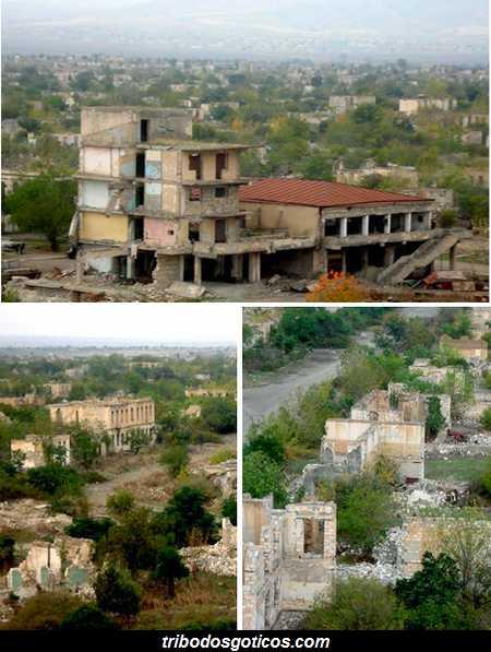 cidade abandonada pela crise e guerra