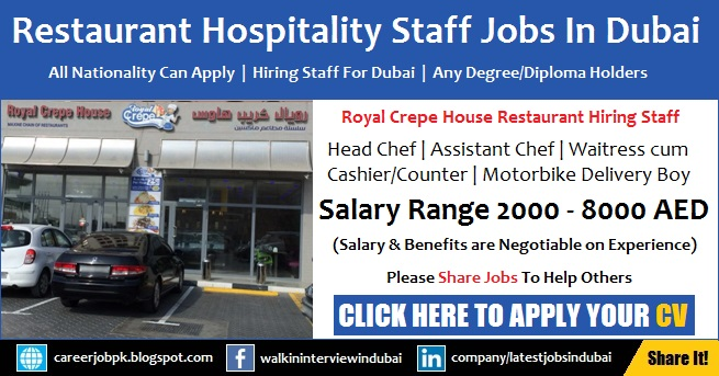 Restaurant Hospitality Latest Jobs in Dubai 2017