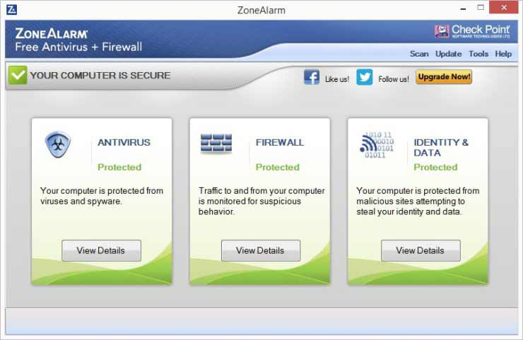 ZoneAlarm Free Antivirus, Firewall
