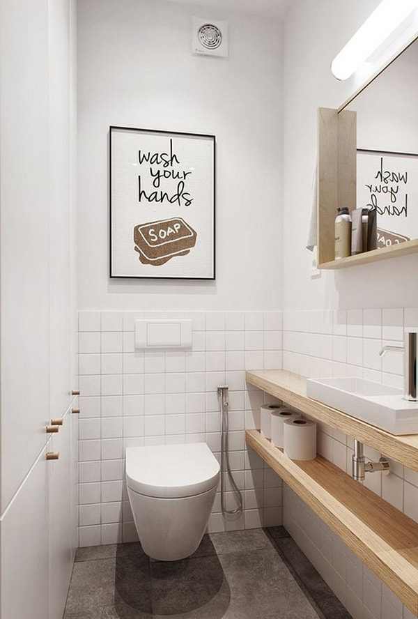 Solutions To Decorate Small Bathrooms 12
