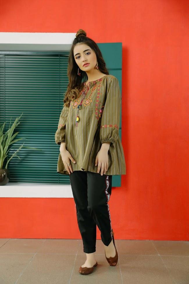 Ethnic Brown Yarn Dyed Shirt