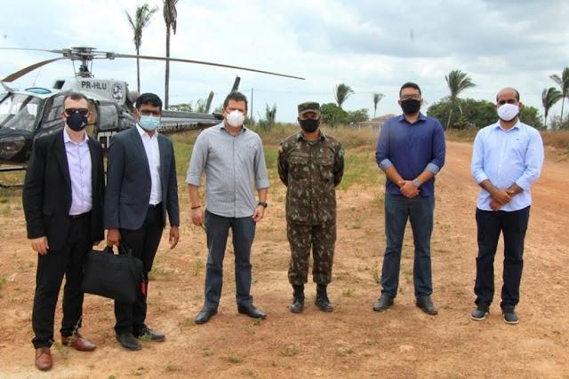Governo e empresa americana visitam área em Bacabeira prevista para receber refinaria