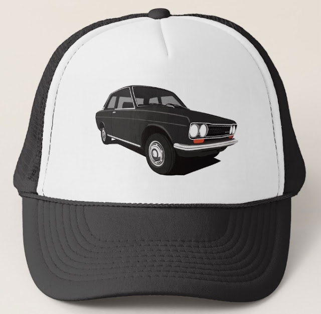 Black Datsun Bluebird 1600 510 trucker hats
