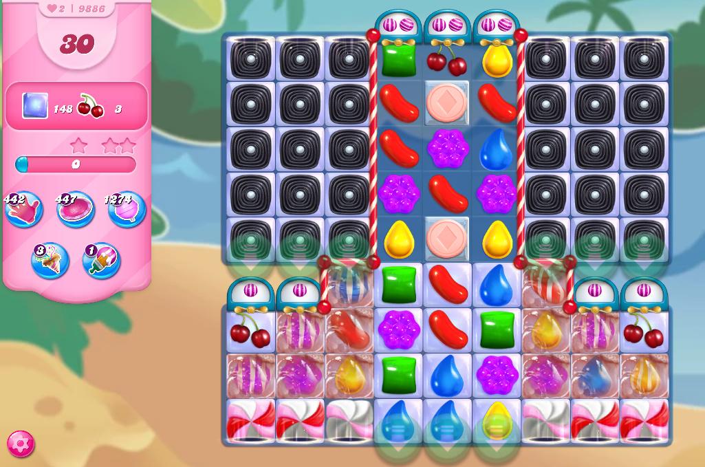 Candy Crush Saga level 9886