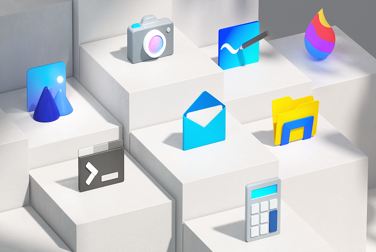 Microsoft has started rolling out colorful new Windows 10X icons