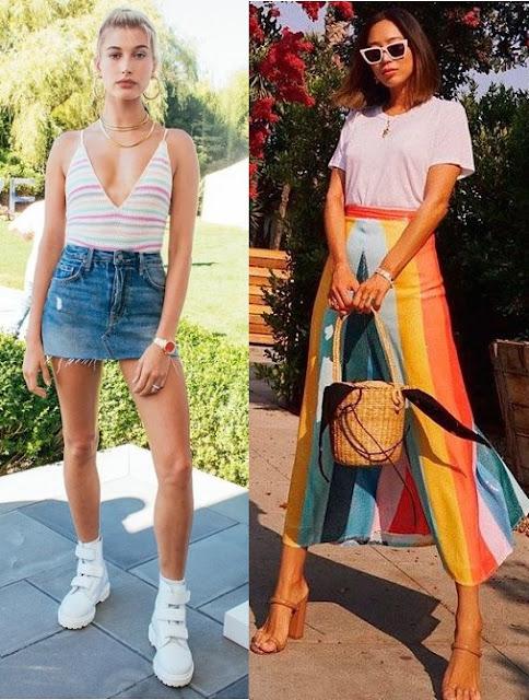 Tendências primavera verão 2019  2020, Aimee Song, Hailey Bieber