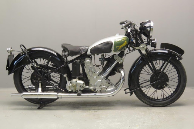 Panther M100 1930s British classic motorcycle
