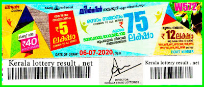 Live: Kerala Lottery Result 06.07.20 Win Win W-572 Lottery Result
