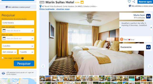 Estadia no Marin Suites Hotel em Sausalito