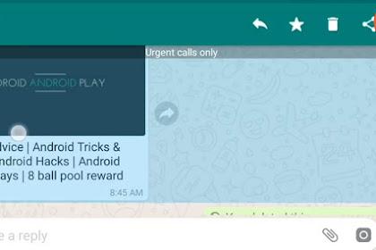 Cara Forward Pesan Whatsapp (WA) ke Nomor lain
