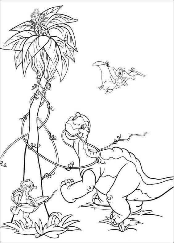 Dinosaurs coloring pages 6