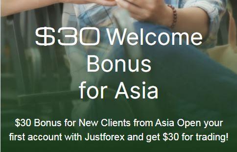 Justforex $30 Forex No Deposit Bonus - Asia