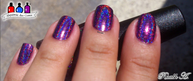 Colors by Llarowe Valentines 2017 Collection, CbL Who Needs Love?, Esmalte Indie, Roxo, Purple, esmalte holográfico, Raabh A, BP-71