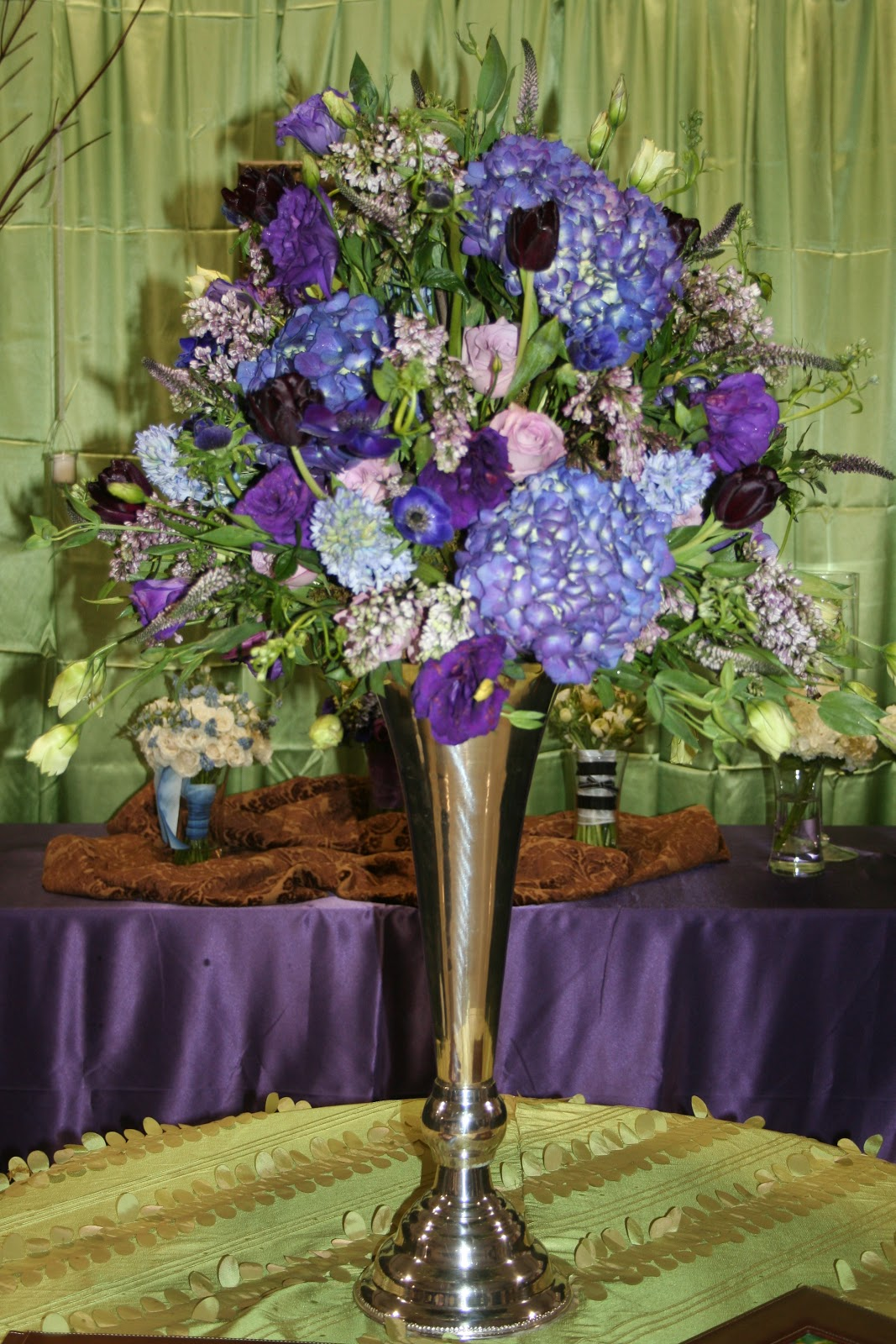 Purple And Blue Flower Arrangements