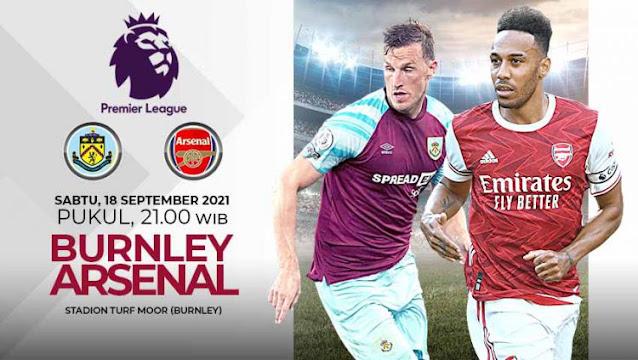 Prediksi Liga Inggris : Burnley vs Arsenal