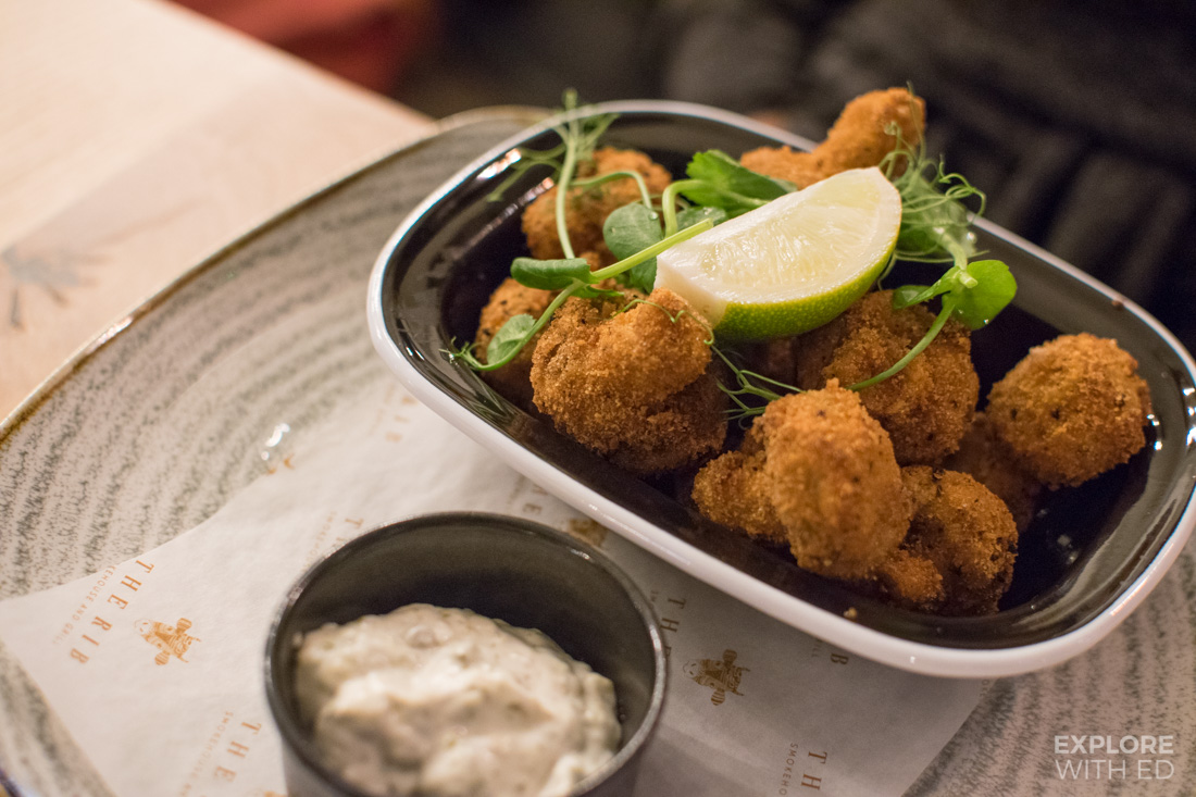 Cajun Spiced Breaded Champignons with tartare sauce