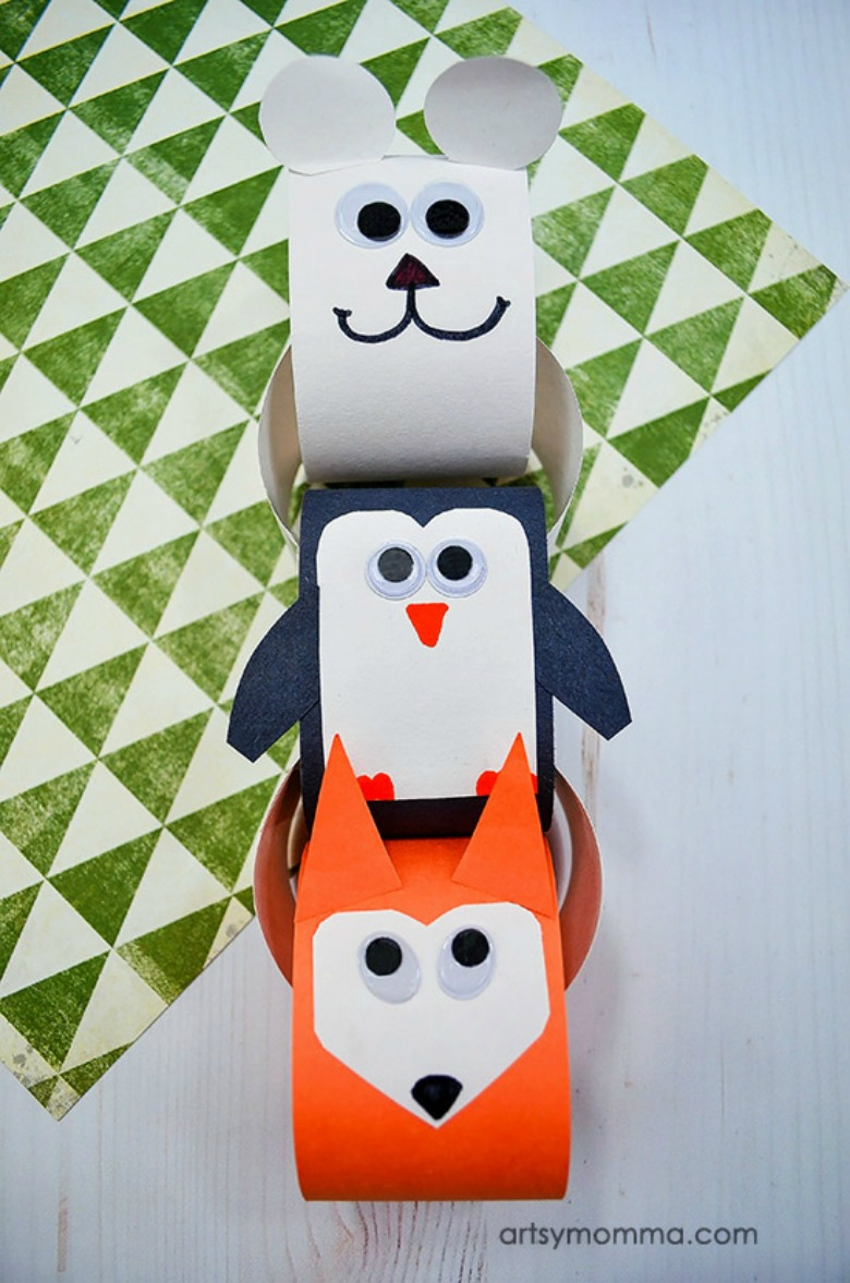 winter animals paper craft for kids
