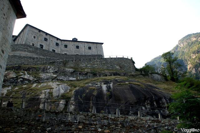 Parte del forte di Bard e della mulattiera