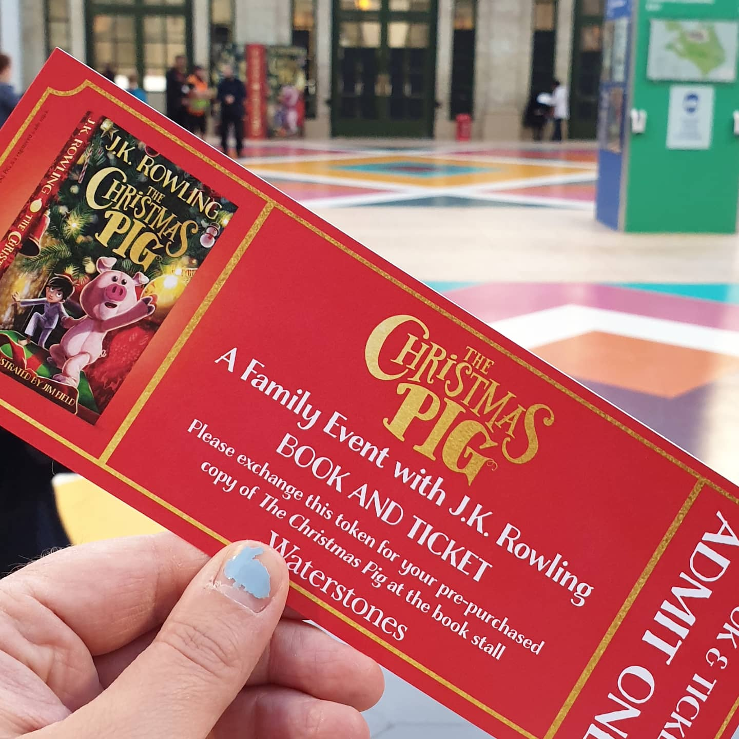 a ticket to a book signing event
