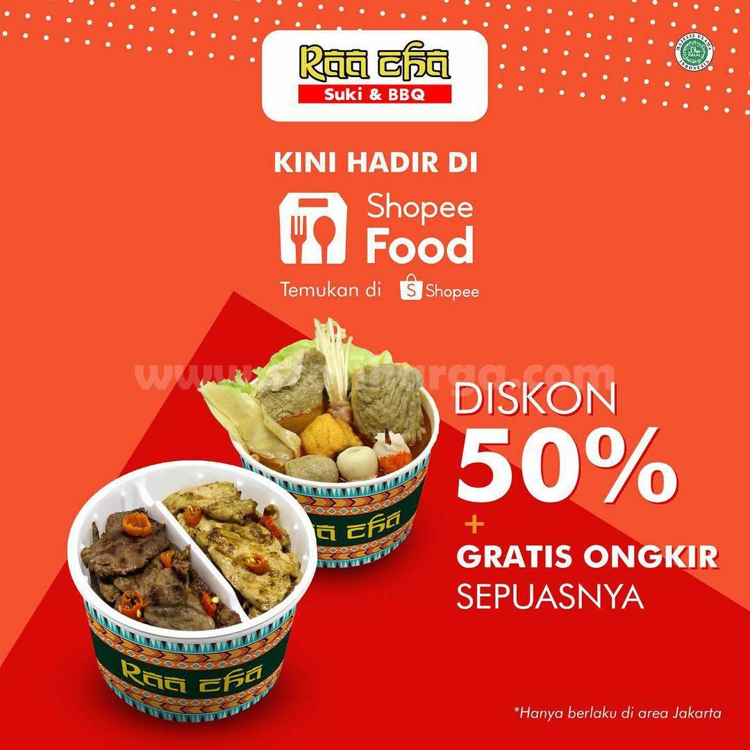 RAA CHA SUKI Promo DISKON 50% + GRATIS ONGKIR via ShopeeFood