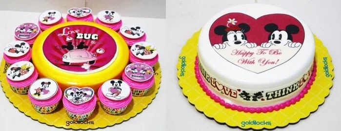 A Magical Valentines' Day with Goldilocks' Mickey and Minnie Mouse Themed Cakes
