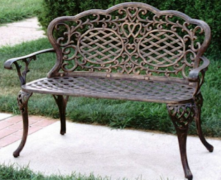 Oakland Living Mississippi Cast Aluminum Bench